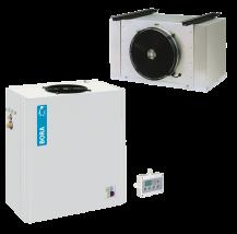 Seria CB  - urządzenia rozdzielone  tzw. splity chłodnicze i mroźnicze – wieszane na ścianie