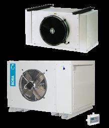 Seria LB  - urządzenia rozdzielone  tzw. splity chłodnicze i mroźnicze – montowane na posadzce