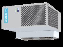Seria SV z płytką chłodnicą -  monobloki chłodnicze montowane na dachu komory – dla niskich komór chłodniczych i mroźniczych